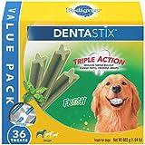 PEDIGREE DENTASTIX Dental Dog Treats for Large Dogs Fresh Flavor Dental Bones, 1.94 lb. Value Pack (36 Treats)