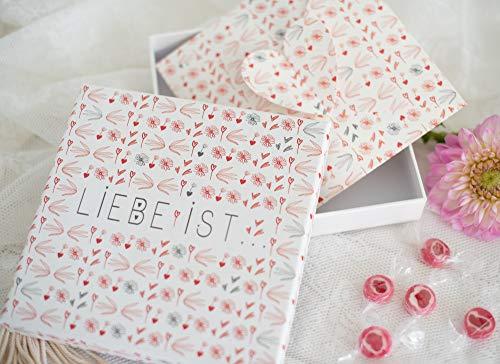 Geldgeschenke Hochzeit - Geld Verpackung - Gutschein verpacken für das Brautpaar Liebe IST