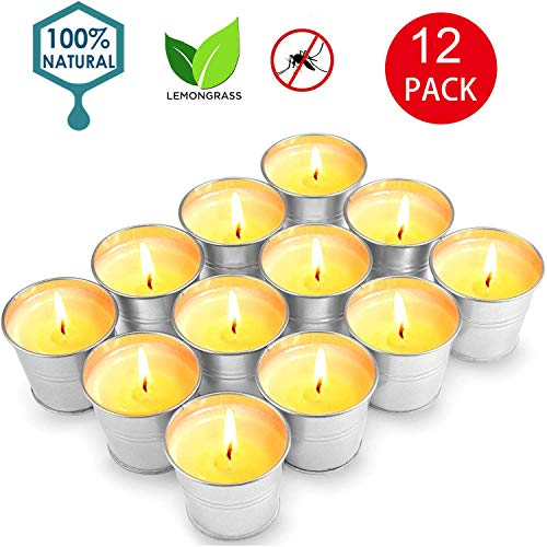 Citronella Candles 12 Pack, Citronella Scented Candles for Outdoor and Indoor