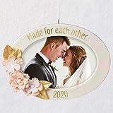 Hallmark Keepsake Christmas Ornament 2020 Year Dated Made For Each Other Wedding Porcelain Photo Frame