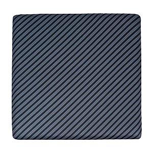 Amazon Basics – Cojín viscoelástico para asiento, con rayas, cuadrado