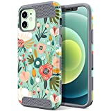ULAK Designed Case Compatible for iPhone 12/iPhone 12 Pro, Slim Stylish Protective Girls Women Phone Case Hybrid Shock Absorbent TPU Bumper for iPhone 12/12 Pro 6.1 inch, Floral
