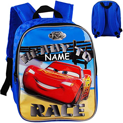 alles-meine.de GmbH 3D Effekt _ Kinder Rucksack - Disney Cars - Auto - Lightning McQueen - inkl. Name - Tasche - beschichtet & wasserfest - Kinderrucksack / groß Kind - Jungen - ..