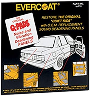 Fibreglass Evercoat 117 Q-Pads Sound Deadener 16 x 16 (4 Per Pack)