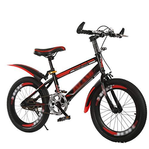 ZHIFENGLIU Bicicletas De Montaña, Aros De Cuchillas De Aleación De Aluminio, Neumáticos Antideslizantes Resistentes Al Desgaste, Acero con Alto Contenido De Carbono, Frenos De Doble V,Rojo,22Size