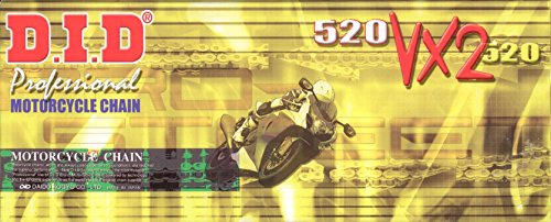 DID Kette 520VX2gold für YAMAHA YFZ450 (Quad) /R /X Baujahr 09-13