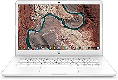HP Chromebook 14, 14in Full HD Display, Intel Celeron N3350, Intel HD Graphics 500, 32GB eMMC, 4GB SDRAM, B&O Play Audio, Snow White, 14-ca051wm (Renewed)
