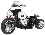 BSD Moto Electrico para Niños Motocicleta Alimentado con Batería Vehículo Eléctrico - Chopper - Negro