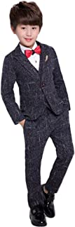 topmodelss キッズ スーツ 子供服 男の子 フォーマル3点セット ジャケット ベストズボン 卒業式 入学式 結婚式 発表会