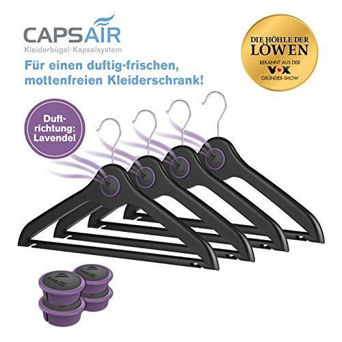 N/A Kleiderbügel CAPS Air 4 St. Schwarz