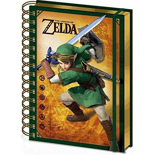 Pyramid The Legend Of Zelda - Spiral Notebook 3D Link