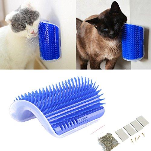 Tpocean Katze Self Groomer Katze Wand Ecke Massage Bürste Kamm Katze Spielzeug mit Katzenminze