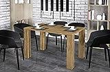 Endo-Moebel Esstisch Nisa 80cm erweiterbar 215cm Küchentisch Esszimmertisch ausziehbar (April Eiche rustikal)