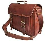 Jaald 46 Cm Grande Hecha Mano Marron Cabra Bolso De Cuero Del Mensajero Para Portátil Bolsa Cuerpo Notebook Bag Office Cruzado Leather messenger bag