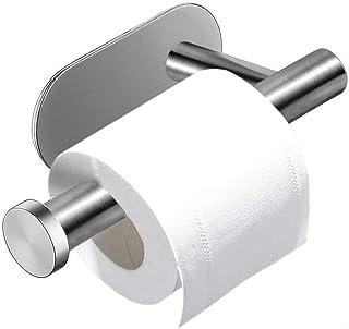 Kissral toiletrolhouder, toiletpapierhouder, roestvrij staal, zelfklevend borend papierhouder, voor keuken en badkamer, pl...