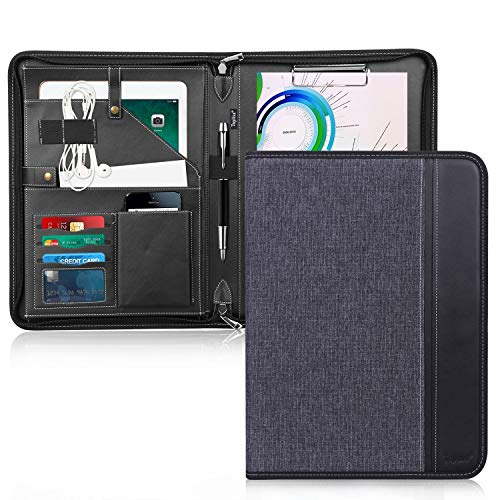 Toplive Zippered Padfolio Portfolio Case,Executive Business Conference...