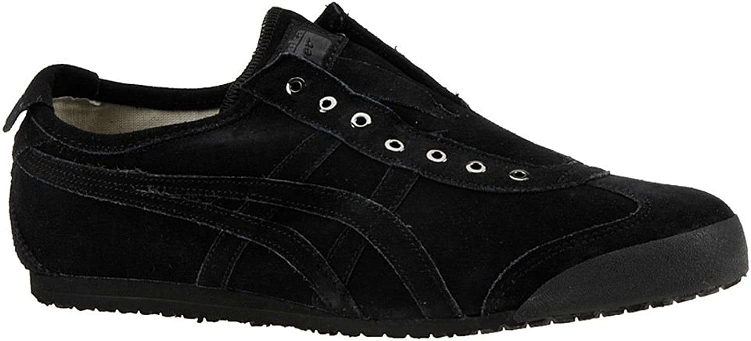Onitsuka Tiger - Unisex-Adult Mexico 66 Slip-on Sneakers, 11.5 D(M) US, Black Black