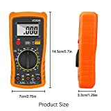 Multimetro Digital Profesional, Tester Digital Voltímetro Amperímetro AC/DC, Ohmímetro Probador con Pantalla LCD Mide Voltaje y Corriente para Escuela, Laboratorio, Fábrica