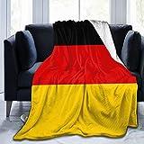 Deutsche Flagge Deutschland Ultraweiche Micro Fleece Decke, Luxus All Seasons Warm Mikrofaser Decke für Bettwäsche Sofa & Travel 60