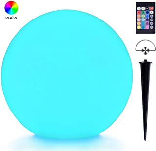 LED Light Ball, LOFTEK 8-inch 16 Colors Changing RGB Moon Lamp, USB Charging Waterproof Glow Orb with Remote Control, Perfect for Gift Bedroom Garden Pool Party Decor(with Ground Insertion and Hook)