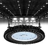 UFO LED High Bay Light 100 W, 10000 lm, 6000 K-6500 K, luz de día, luz blanca ultrafina, iluminación LED para almacenes, resistente al agua IP65, iluminación comercial para taller en el garaje