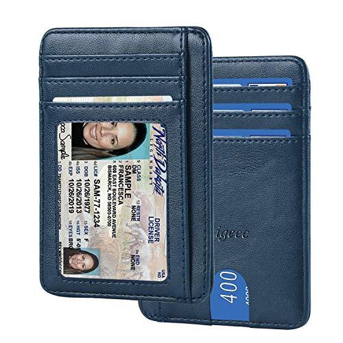 【Amazon限定ブランド】IDカードホルダー IDカードケース - ネームホルダー ICカードホルダー 両面カードケース クレジットカード 「社員証 名刺 定期入れ 通勤 通学 パスケース」 Migeec 縦型 (ID Card Holder-001, ネイビー)