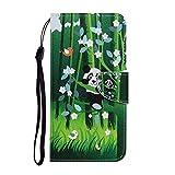 Miagon pour Xiaomi Mi Note 10 Lite Case,Coloré Motif Pliant étui à Rabat en PU Cuir Etui Housse...
