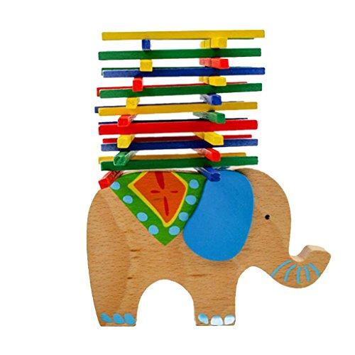 MagiDeal Juego de Mesa Barra de Equilibrio Elefante para Manos Madera Niños Bebés