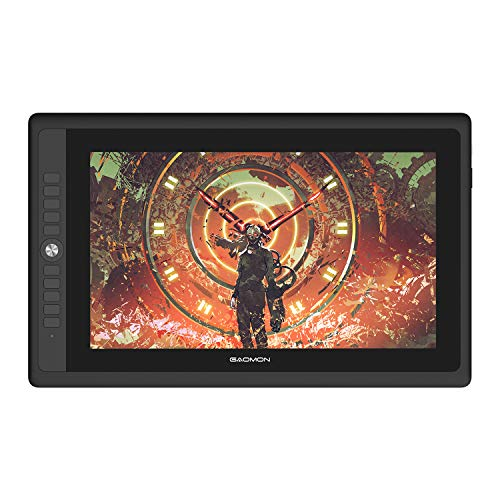 GAOMON PD156PRO 15,6 Zoll laminiertes Grafik-Display mit Full-HD-Display (1.920 x 1.080), Batterielosem Stift mit Neigungserkennung, kompatibel mit Windows und Mac