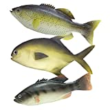 WAYBER 3 Pcs Lifelike Fake Fish Set, Realistic Artificial Sea Fish Model for Home Decor, Market Display, Kids Play and Learn Tools, Stage Drama & Photography Props