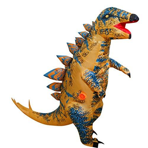 LOLANTA Costume da Bambino in Costume da Dinosauro Gonfiabile Stegosaurus spinoso per Bambini (Marrone)