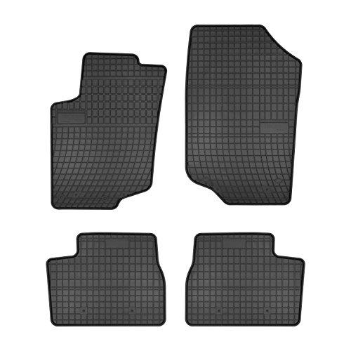 Frogum 0631 Gummifußmaten, solide, oryginal Passform Mercedes-Peugeot 207 2006-2012 angepasst – Schwarz