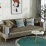 YUTJK Patrón clásico de Chenilla, Salón de sofá, Fundas de Asiento de sofá de Tela para Sala de Estar, Funda Protectora de Muebles, Vendido en Pedazos, marrón