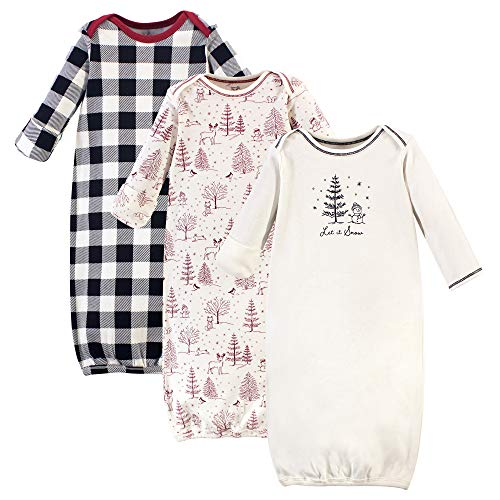Touched by Nature baby girls Organic Cotton Nightgown, Winter Woodland, 0-6 Months US
