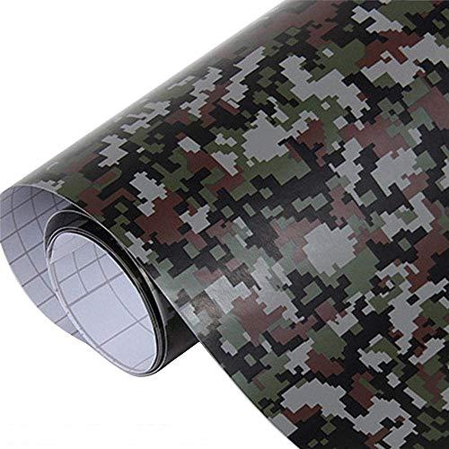 Lecimo Arctic Film Camuflaje Adhesivo De Vinilo Negro Blanco Gris Camo Militar Motocicleta Scooter Decal Wrap Color Change Sticker, 2#