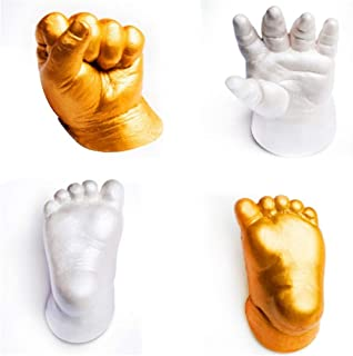 Luonita Baby Handprint and Footprint Safe Plaster Mold,Souvenir Hand Casting Kit Couples Wedding Holding,Precious Impressions Memory Mold Infant Kit for Newborn Baby Girls Boys