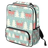 Mochila escolar con estampado de pulpo rojo para ordenador portátil, mochila casual para niños, niñas y mujeres Color09 14.3x11.4x4.7 in