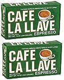2 X Cafe La Llave Espresso Brick, 10 Ounce