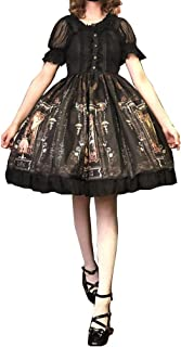 Nite closet Lolita Dress for Women Black Lace Tops Sweet Gothic Vintage Cosplay