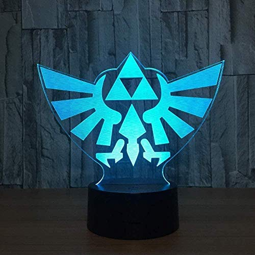 YOUPING Mesita de noche LED con Bluetooth, 3D LED Night Lighteagle, 7 colores, interruptor táctil gradual, lámpara de mesa USB, ideal como regalo de Navidad