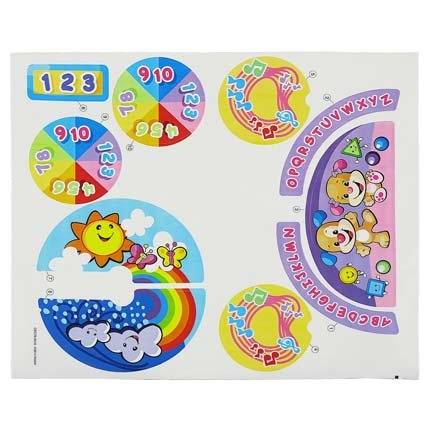 Replacement Parts Laugh and Learn Car - Fisher-Price Laugh and Learn Crawl Around Car CDC78 and DJD09 ~ Replacement Stickers ~ Styles May Vary from Photo