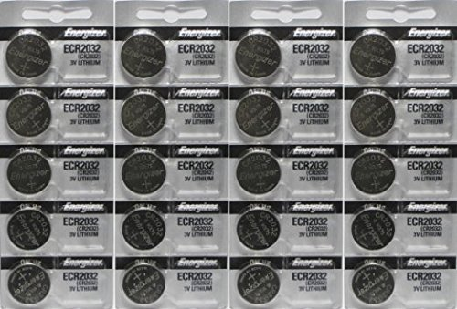 Energizer 2032 Battery CR2032 Lithium-Super Pack-20 Count-(3v- Batteries)