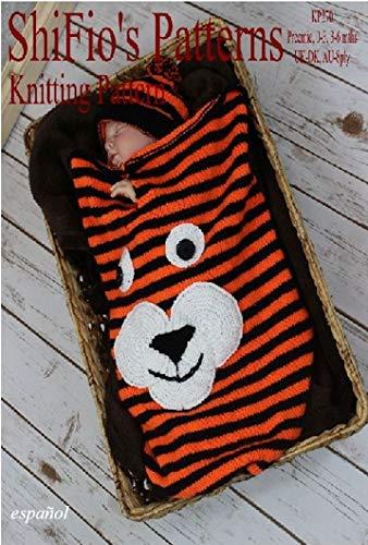 patrón para dos agujas - KP270- bolsa de dormir para bebé y sombrero, tigre
