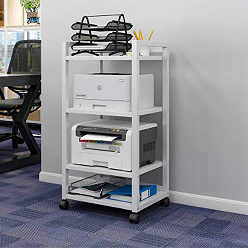 Yamyannie Soportes de Escritorio para Impresora Capa Ajustable Distancia Impresora Estantería Esquema de Escritorio Oficina Multi-Capa Movible Movible Creative Storage Rack Material de Oficina