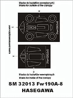 Montex Mini Mask 1:32 Fw-190 A-8 for Hasegawa Kit Spraying Stencil #SM32013