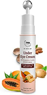 TNW-The Natural Wash Under Eye Cream Gel For Men & Women With Cooling Massage Roller | For Reducing Dark Circles, Fine Lin...