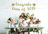 Bandera de felicitación clase de 2019 oro Banner gradual fiesta decoración secundaria graduación telón de fondo Felicidades Graduate Banner