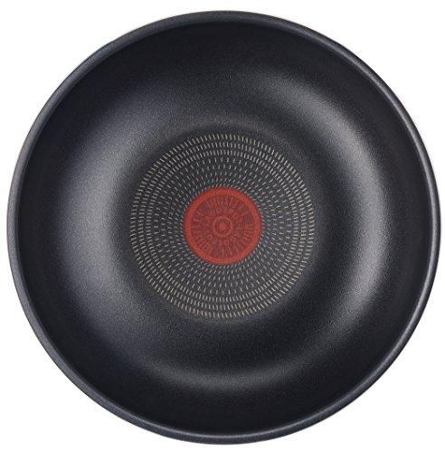Lagostina Ingenio Essential Wok, diámetro 28cm, Aluminio, Negro