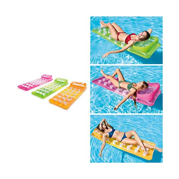 18-Pocket Fashion Pool Lounge – Inflatable Pool Float – Colors May Vary