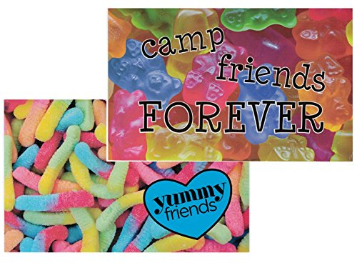 6 Summer Camp Stationery Postcards for Kids Gummy Bear/Worms Postcards